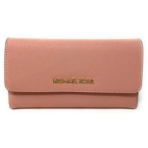 Michael Kors Jet Set Travel Large Wallet Pale Pink